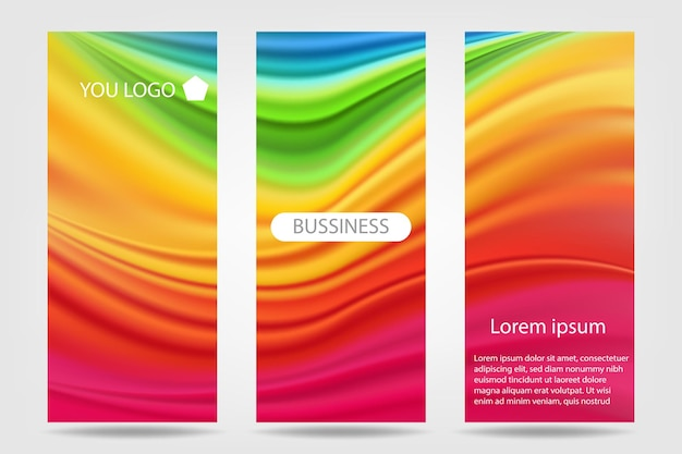 Kleurrijke roll-up banner set