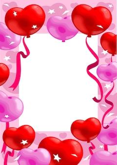 Kleurrijke romantische wenskaart