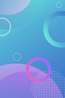 Kleurrijke ronde moderne achtergrond