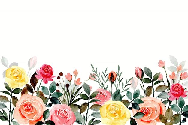 Kleurrijke roos achtergrond met aquarellen