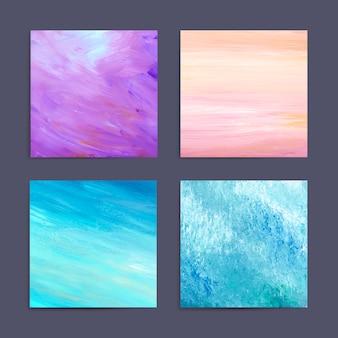 Kleurrijke schilderij achtergrond set