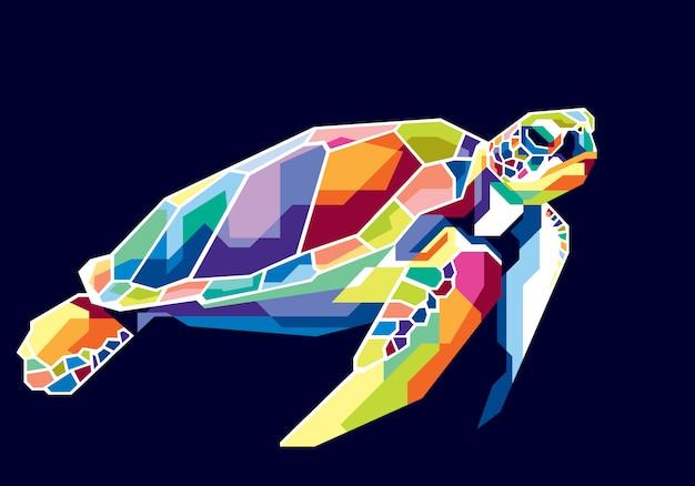 Kleurrijke schildpad
