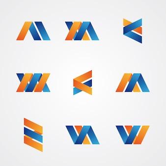 Kleurrijke set van abstracte creatieve emblemen
