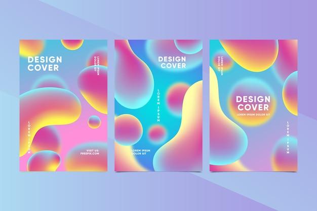 Kleurrijke set van creatieve covers