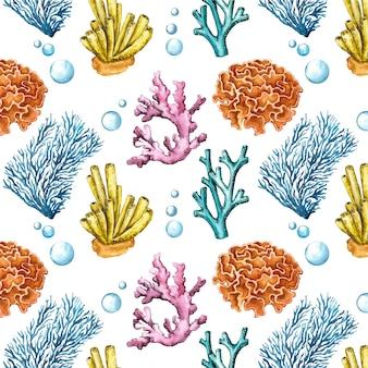 Kleurrijke set van koralen patroon