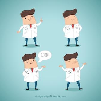 Kleurrijke set van leuke artsen