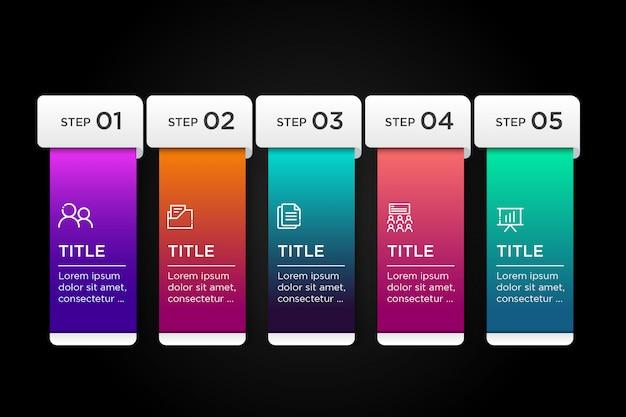 Kleurrijke sjabloon infographic bedrijf