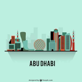 Kleurrijke skyline van abu dhabi