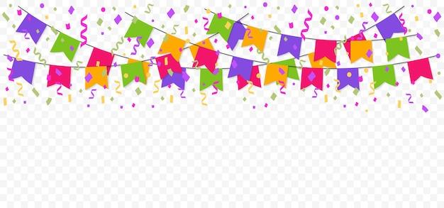 Kleurrijke slinger met feestvlaggen kleurgors