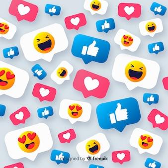 Kleurrijke smiley achtergrond
