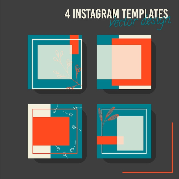 Kleurrijke social media postsjabloon, voor winkel en mode. minimalistisch geometrisch concept.