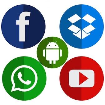 Kleurrijke sociale media pictogrammen