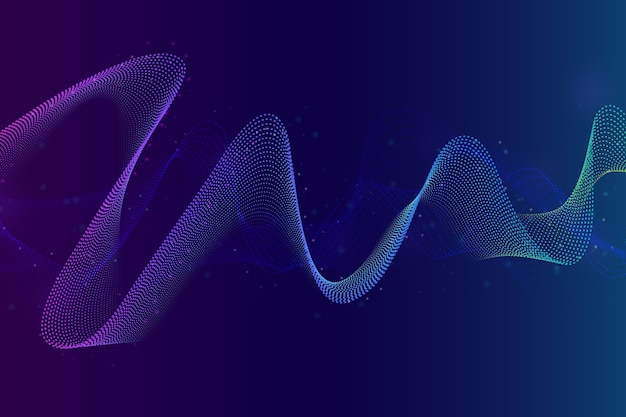Kleurrijke soundwave achtergrond