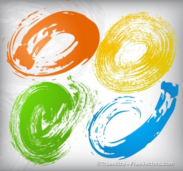 Kleurrijke spatten effect