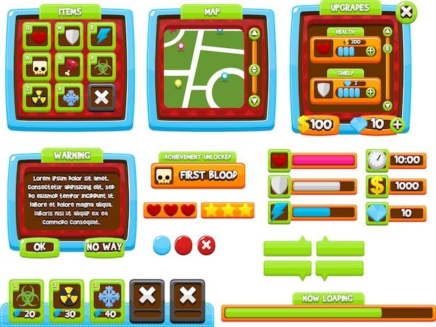 Kleurrijke spel-gui