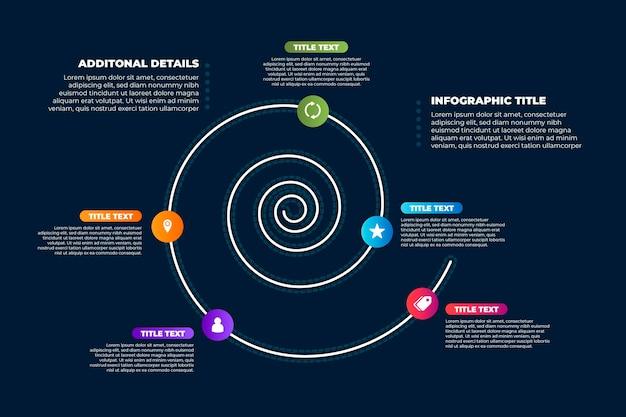 Kleurrijke spiraal infographic concept