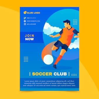 Kleurrijke sport folder sjabloon