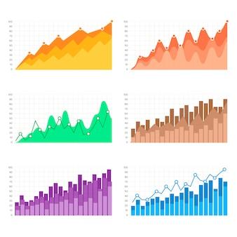 Kleurrijke staafdiagrammen