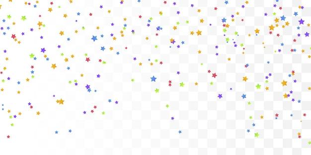 Kleurrijke star confetti voor ansichtkaarten, verjaardag.