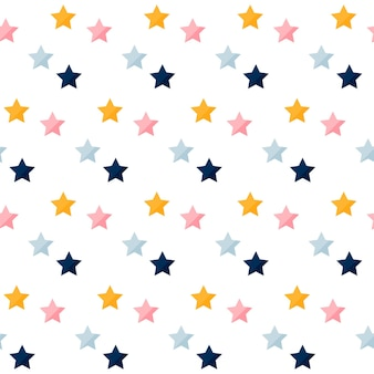 Kleurrijke sterren naadloze patroon