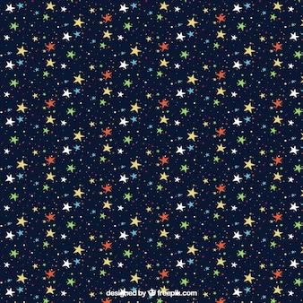 Kleurrijke sterrenhemel patroon