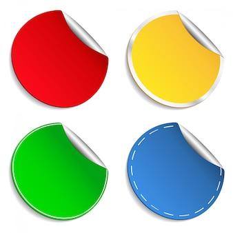 Kleurrijke stickers in te stellen