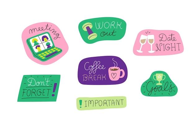 Kleurrijke stickersinzameling