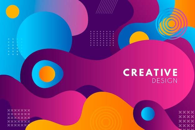 Kleurrijke stijl abstracte achtergrond