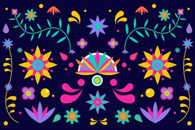 Kleurrijke stijl mexicaanse achtergrond