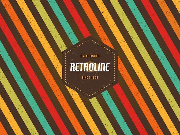 Kleurrijke strepen retro lijn achtergrond