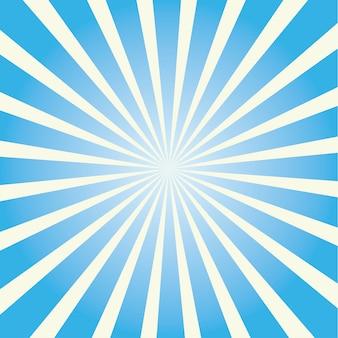 Kleurrijke sunburst. gekleurde zonnestralen cartoon afbeelding