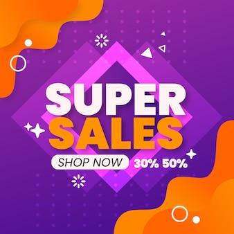 Kleurrijke super verkoopachtergrond