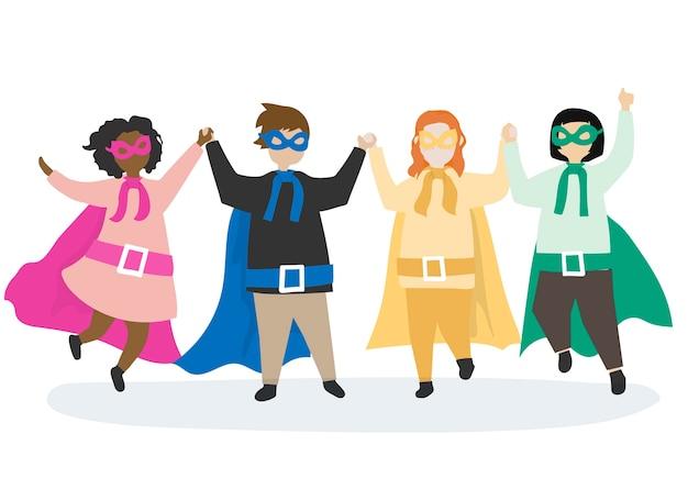 Kleurrijke superhelden om te redden