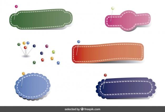 Kleurrijke swing badges collectie