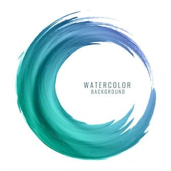 Kleurrijke swirl waterverfontwerp