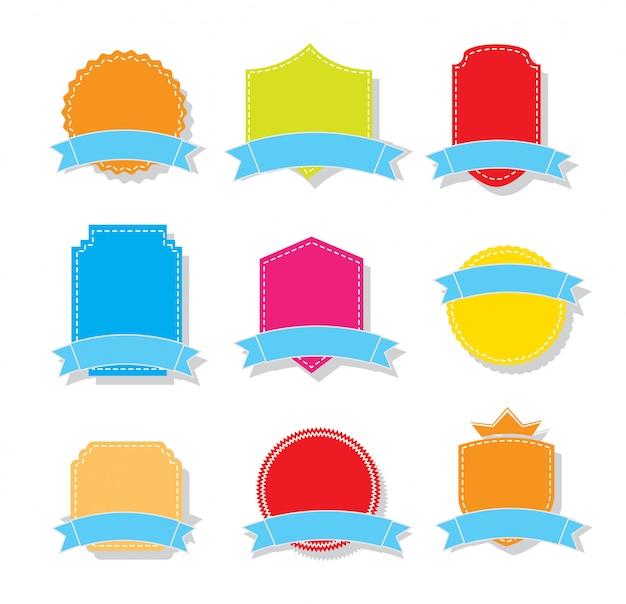 Kleurrijke tags
