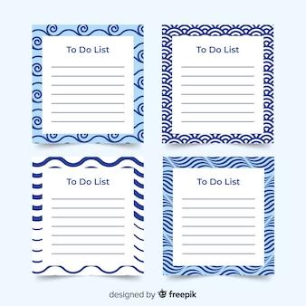 Kleurrijke takenlijstcollectie met plat ontwerp