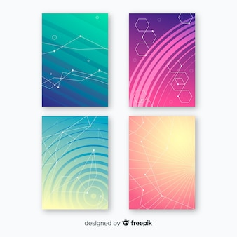 Kleurrijke technologie brochure sjabloon collectie