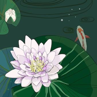 Kleurrijke tekening natuurlijke poster