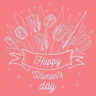 Kleurrijke tekening voor de dag van vrouwen