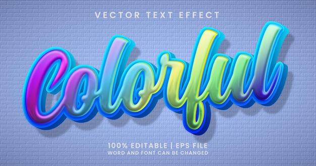 Kleurrijke tekst, bewerkbare stijlsjabloon voor teksteffect