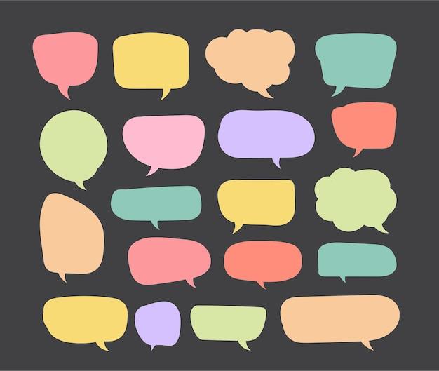Kleurrijke tekstballon gesneden papieren ontwerpsjabloon vectorillustratie voor uw bedrijfspresentatie