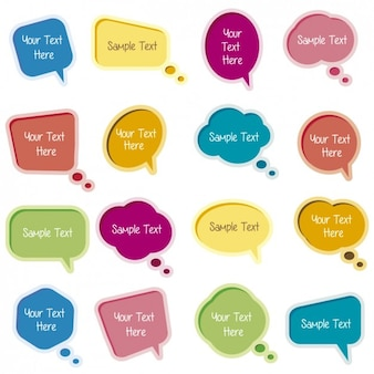 Kleurrijke tekstballonnen