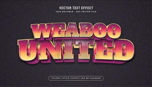 Kleurrijke tekststijl met plastic textuureffect