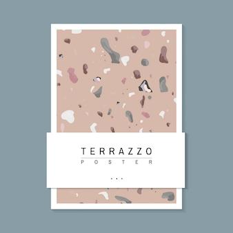 Kleurrijke terrazzo patroon poster vector
