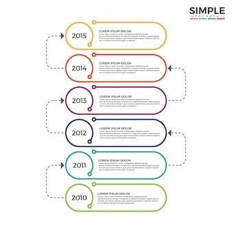 Kleurrijke tijdlijn infographics ontwerp vector