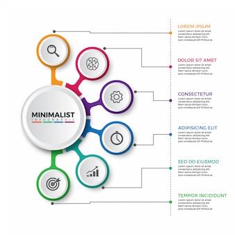 Kleurrijke tijdlijn infographics ontwerp