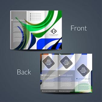 Kleurrijke tri fold brochure ontwerp