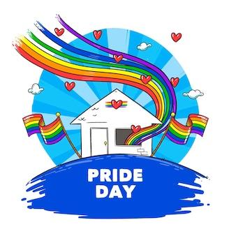 Kleurrijke trots dag concept