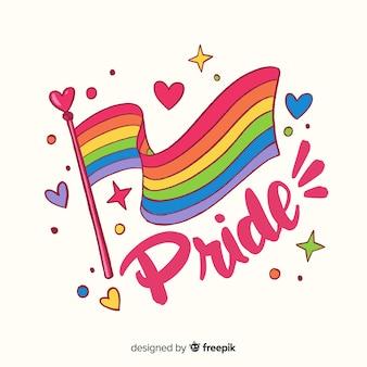 Kleurrijke trots dag vlag achtergrond